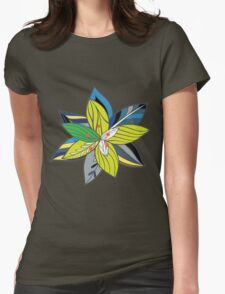 floral vektor Womens Fitted T-Shirt