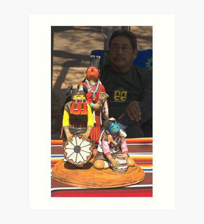 Santa Fe Indian Fair Art Print