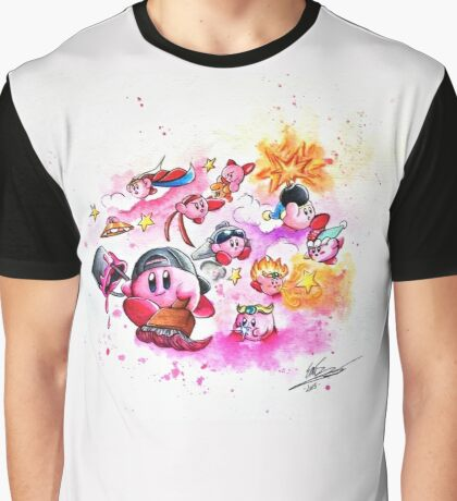 Kirby - Pink and Mighty  Graphic T-Shirt