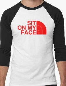 Sit On My Face ( Red Edition ) Men's Baseball ¾ T-Shirt