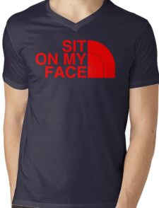 Sit On My Face ( Red Edition ) Mens V-Neck T-Shirt