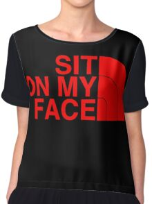 Sit On My Face ( Red Edition ) Chiffon Top