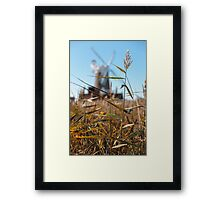 Wheat and Windmill Framed Print