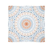 White Red Blue Mandalas Scarf