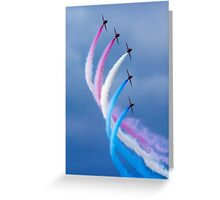 Red Arrows Turn Greeting Card