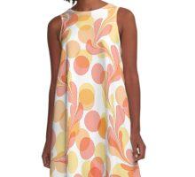 pale swirly dots A-Line Dress