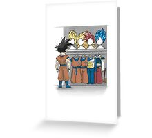 Saiyan Closet Greeting Card