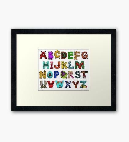 Alphabet Seven Framed Print