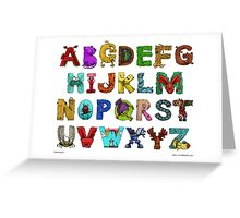 Alphabet Seven Greeting Card