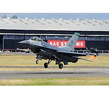 F-16 Lands Photographic Print