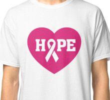 Breast Cancer Awareness - Hope Pink Ribbon T Shirt Classic T-Shirt