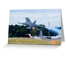 F-16 Takes Off Greeting Card