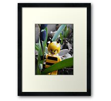 Bumblebee Lady in the Flowers Framed Print