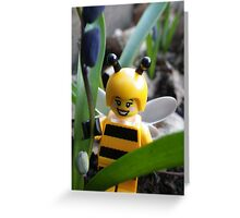 Bumblebee Lady in the Flowers Greeting Card
