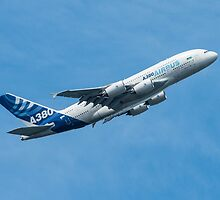 A380 Climbs by TomGreenPhotos