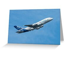 A380 Climbs Greeting Card