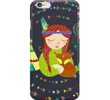 girl teepees bohemian iPhone Case/Skin