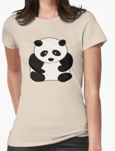 Chubby Panda Womens Fitted T-Shirt