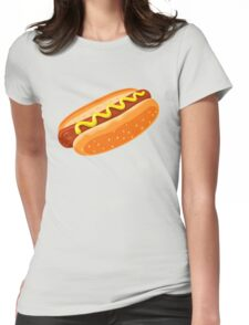 Big Hotdog - Yum! - Funny Humor T Shirt Womens Fitted T-Shirt