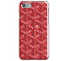 Goyard Red Pattern iPhone Case/Skin