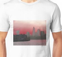 Cityscape - London - Red Unisex T-Shirt
