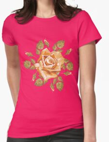floral flower Womens Fitted T-Shirt