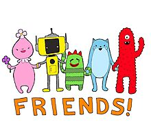 FRIENDS! Yo Gabba Gabba Photographic Print