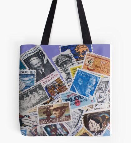 Postage Stamps Tote Bag