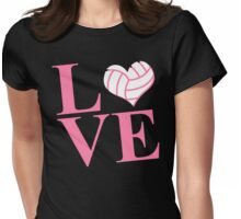 LOVE VOLLEYBALL Womens Fitted T-Shirt