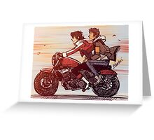 Biker Klance Greeting Card