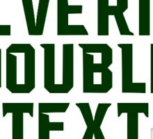 Wolverines Double Text Sticker