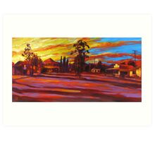 Morning Shadows at Blackbutt Art Print