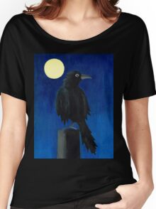 Crow at Night Women's Relaxed Fit T-Shirt