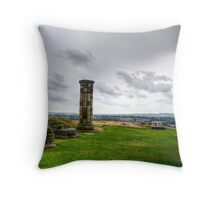 Whitby Abbey Ruins and Ice Cream Van Throw Pillow