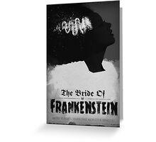 Bride of Frankenstein Poster Greeting Card