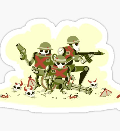 Robot Army Sticker