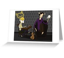 221 B quiet time Greeting Card