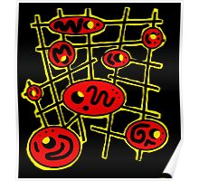 Yellow and red abstraction Poster