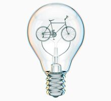 Light Bicycle Bulb Unisex T-Shirt