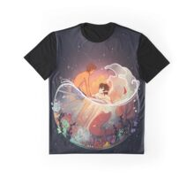 Flowers and Stars Graphic T-Shirt