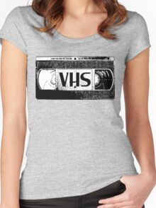 VHS Video Cassette Women's Fitted Scoop T-Shirt