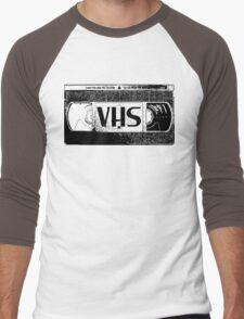 VHS Video Cassette Men's Baseball ¾ T-Shirt