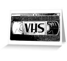VHS Video Cassette Greeting Card