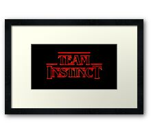 Stranger Team Instinct Framed Print