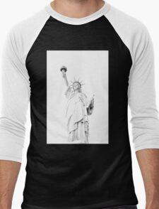 Lady Liberty  Men's Baseball ¾ T-Shirt