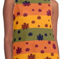 Falling leaves in autumn Contrast Tank