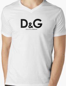 Dolce & Gabbana  Mens V-Neck T-Shirt