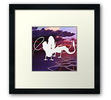White Haku Framed Print