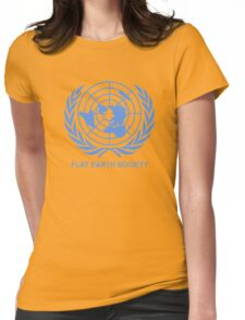 Flat Earth Society Womens Fitted T-Shirt