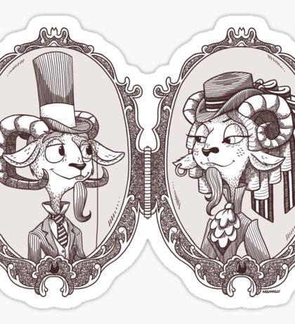 goat locket Sticker